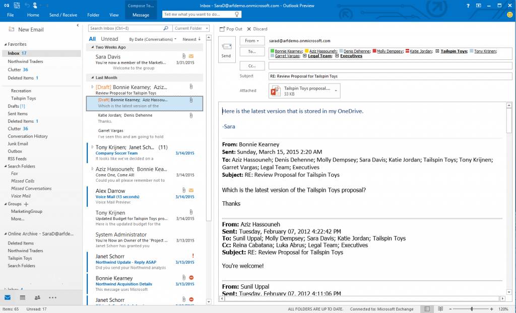 Office 2016 Outlook